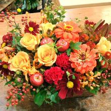 【秋のギフトやお誕生日祝いのプレゼントに】実りの秋のフラワーアレンジ
